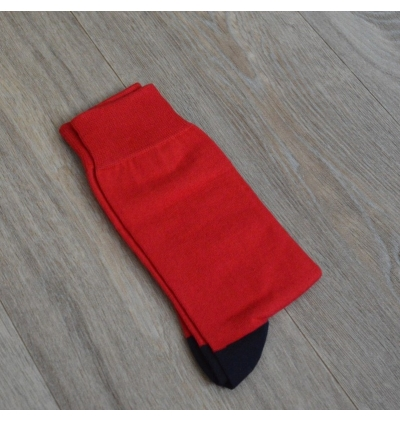 Chaussettes Versailles rouge rubis