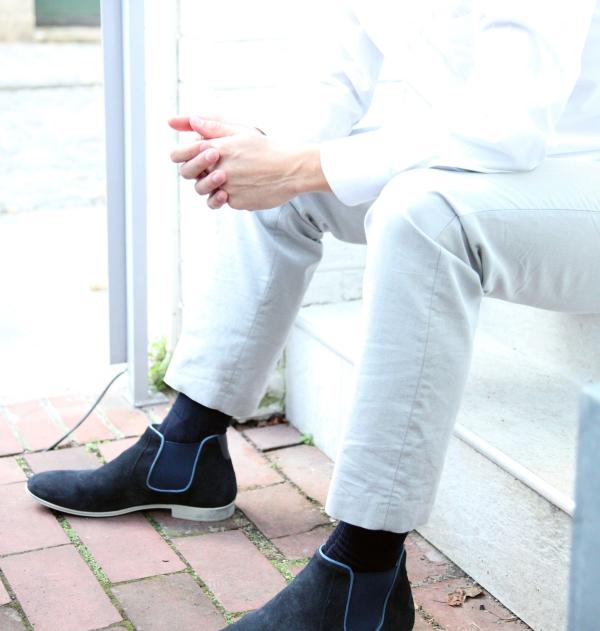 Mercerized cotton knee-high socks made in France