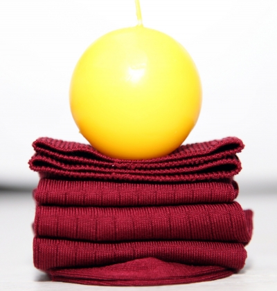 Chaussettes en fil d'écosse bordeaux