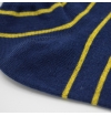 Blue bobby socks with yellow stripes