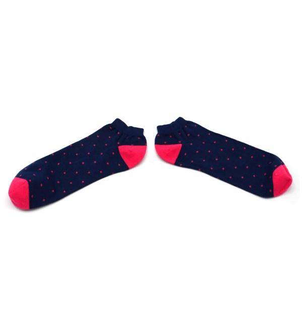 Socquettes à pois en coton peigné aux coutures plates