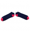 Combed cotton bobby socks with dots with plane stitches, made by our knitting expert