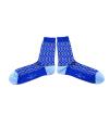 Chaussettes fantaisie Marie Antoinette blue sapphire socks