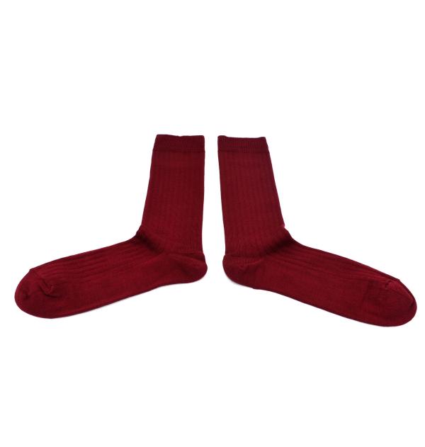 Made in France mercerized cotton socks burgundy