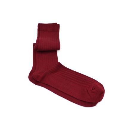 Burgundy made in France mercerized cotton socks