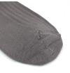 Grey stone made in France mercerized cotton knee-high socks