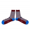 Louix XIV red agate socks