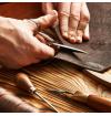 Ceinture tressee made in france finitions en cuir