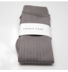 Grey stone made in France mercerized cotton knee-high socks