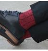 Chaussettes fantaisie Lenôtre rouge rubis