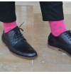 French style High quality cotton socks with plane stitches, stregthened heel and point, inspired by Versailles garden's design f