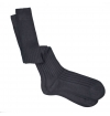Anthracite grey pure mercerized cotton knee-high socks handly remeshed