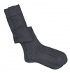 Thunderstorm grey pure mercerized cotton knee-high socks handly remeshed