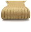 Sand beige pure mercerized cotton knee-high socks