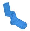 Sky blue pure mercerized cotton knee-high socks
