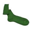 Grass green pure mercerized cotton knee-high socks