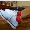 Ruby red pure mercerized cotton knee-high socks
