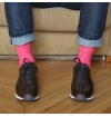 Pink raspberry pure mercerized cotton knee-high socks
