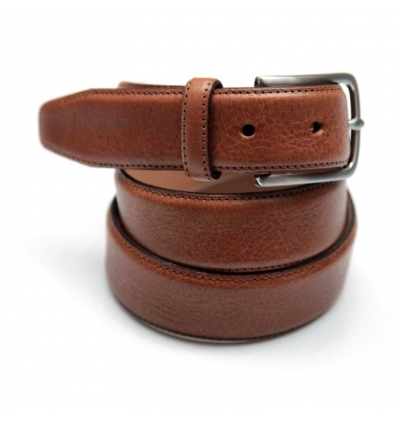 Camel full grain leather belt