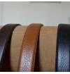 Camel full grain leather belt