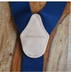 Navy suspenders with clips or buttons and full grain leather links
