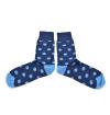 Blue socks with light blue dots