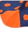 chaussettes-fantaisie-hommes-femmes-en-coton-bleu-marine-à-motif-gros-oranges-remaillées-à-la-main