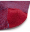 Light blue and red chevron patterned socks