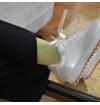 chaussettes-fantaisie-hommes-femmes-en-coton-jaunes-à-motifs-chevrons-bleu-ciel-remaillées-à-la-main
