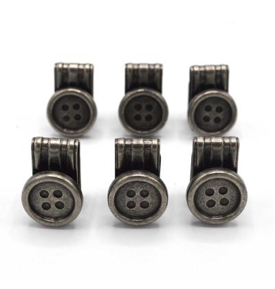Lot de 6 boutons-clips-amovibles-bretelles-fabriqués-en-allemagne
