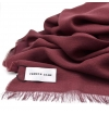 Bordeaux light whool scarf made of virgin whool and vegetal fibers