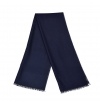 Navy light whool scarf made of virgin whool and vegetal fibers