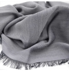 Light gray whool scarf made of virgin whool and vegetal fibers