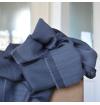 Navy light whool scarf made of virgin whool and vegetal fibers