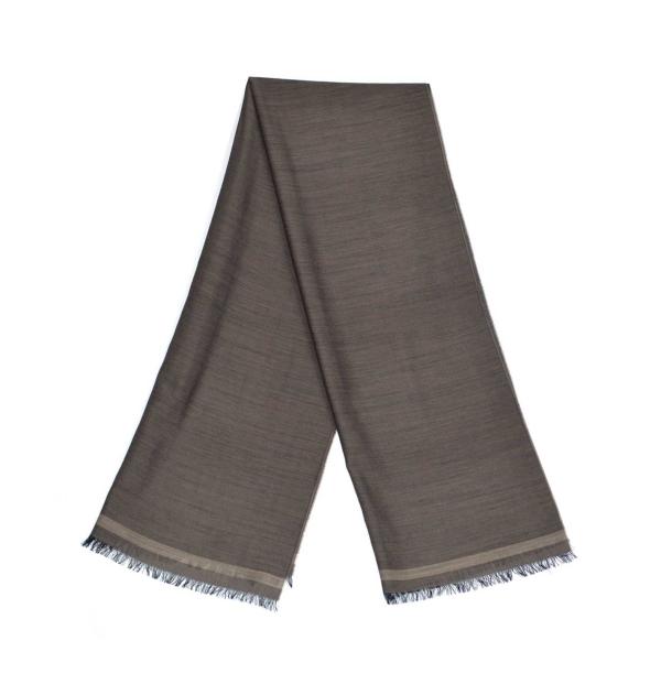 whool scarf made of virgin whool and vegetal fibers