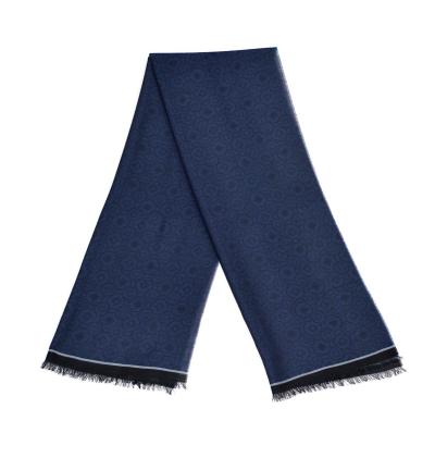 Echarpe-legere-en-laine-bleu-marine-pour-femmes-et-hommes-a-motifs-jardin-de-versailles