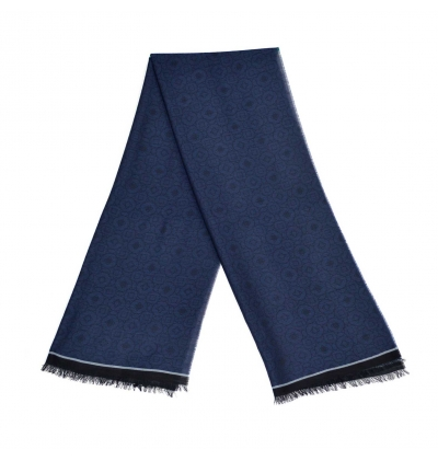 Sapphire night blue light whool scarf