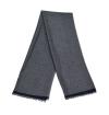 Grey agate Versailles whool scarf