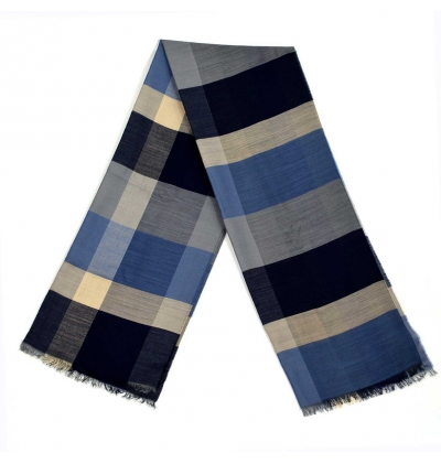 Echarpe-legere-en-laine-bleu-marine-pour-femmes-et-hommes-a-motifs-tartans