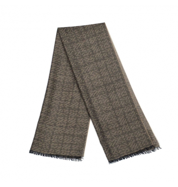 Labyrinth mauve whool scarf
