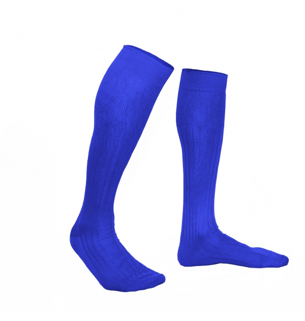 Royale blue pure mercerized cotton knee-high socks