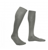 Feather grey pure mercerized cotton knee-high socks handly remeshed