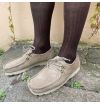 Chocolate brown pure mercerized cotton knee-high socks handly remeshed