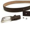Full grain leather belt from vegetal tanning process