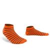 Socquettes fantaisie à rayures en coton peigné aux coutures plates