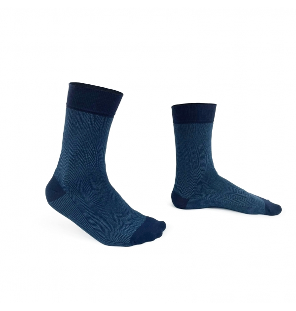 Striped handly remeshed combed cotton socks