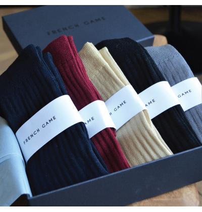Chaussettes en fil d'écosse noires