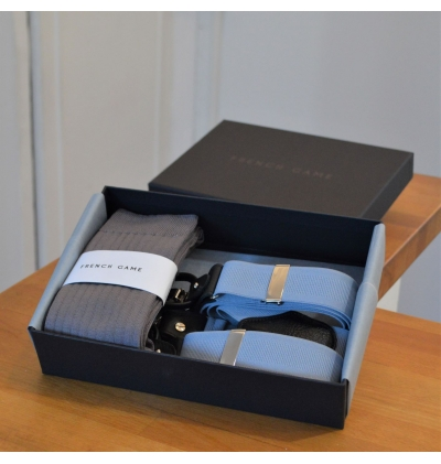 Giftbox with matching suspenders and scarf