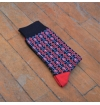 Combed cotton socks with plane stitches