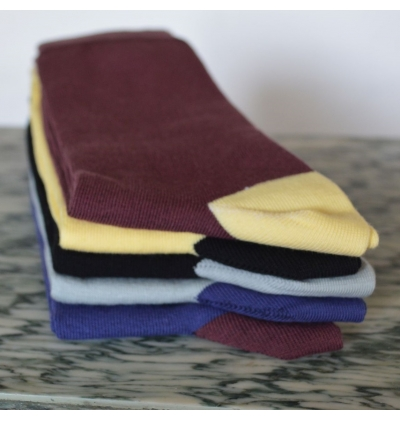 Versailles cotton socks with plane stitches